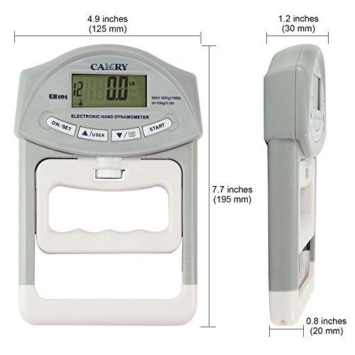 Dynamometer Horsepower Measurement : Camry digital hand dynamometer grip strength measurement