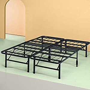 Sleep Master Platform Metal Bed Frame/Foundation Set(SmartBase + Metal Brackets for Headboard & Footboard Attachment + Bed Skirt - FULL) - Perfect for Spring, Latex, and Memory Foam Mattresses 6
