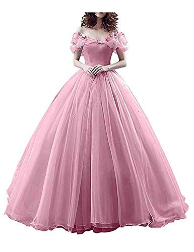 Cinderella Quinceanera Dress Princess Costume Butterfly Off The