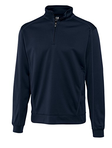 Cutter & Buck Mesh Pullover - Cutter And Buck Men's Comfort Moisture Wicking Pullover_Solid Navy Blue_XXX-Large