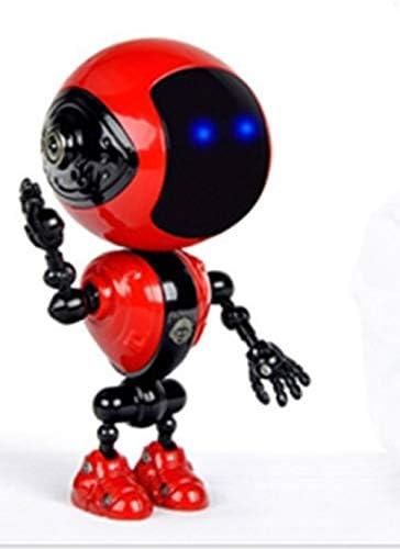 ミニロボット 癒しのミュージュックロボ 音楽や擬音、呼びかけをします。楽曲6曲、擬音6音、呼びかけ7音 19音の音を奏でます。2頭身ながら精密なロボット 癒しの可愛いミニロボット。(USBコード付き) (レッド)