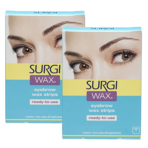 Wax Brow Shapers Surgi - Surgi Wax Eyebrow Ready To Use Wax Strips 28 Strips, 2 Pack