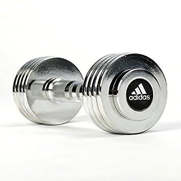 adidas ADWT-10026 Mancuernas Ajustables, Unisex Adulto, Plata, Talla Única: Amazon.es: Deportes y aire libre