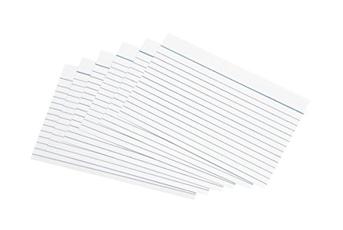 (5 Star Record Cards Ruled Both Sides 8x5in 203x127mm White [Pack of 100])