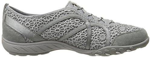 Skechers BREATHE Women's EASY FORTUNEKNIT Meadows Shoes Grey rr4UTnz
