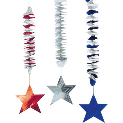 (Red White and Blue Dangling Cutouts)