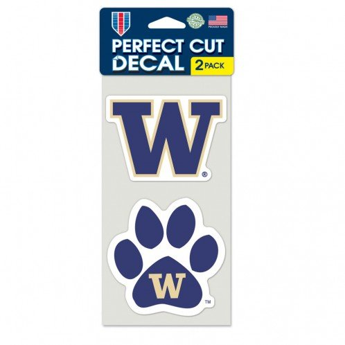 (WinCraft NCAA University of Washington Perfect Cut Decal (Set of 2), 4