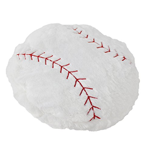 CatchStar Stuffed Baseball Pillow Plush Fluffy Ball Throw Soft Durable Sports Toy Gift for Kids Room Decoration Winter Style