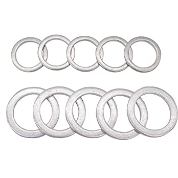 Rear-Differential-Fill-and-Drain-Plug-Gaskets-Crush-Washers-Seals-Rings-for-Honda-Accord-Acura-Civic-Ridgeline-Odyssey-CRV-CR-V-Pilot-Fit-Element-Replacement-for-the-Part-94109-20000-90471-PX4-000