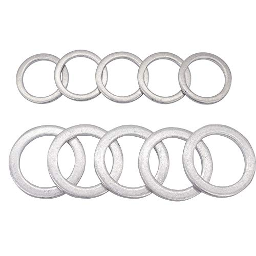 Washer Rear (Rear Differential Fill and Drain Plug Gaskets Crush Washers Seals Rings for Honda Accord Acura Civic Ridgeline Odyssey CRV CR-V Pilot Fit Element, Replacement for the Part # 94109-20000 90471-PX4-000)