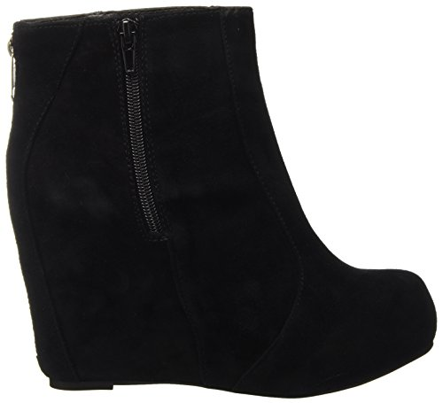 Castañer Camille/Box Leather Woven Suede - Botas para mujer, color sand/black, talla 35
