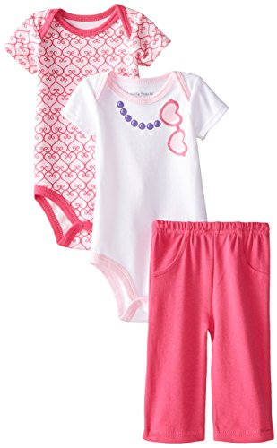 Luvable Friends Baby-Girls 3 Piece Set 2 Bodysuits and Pant Set, Sunglasses, 3-6 - Sunglasses Me Will Suit