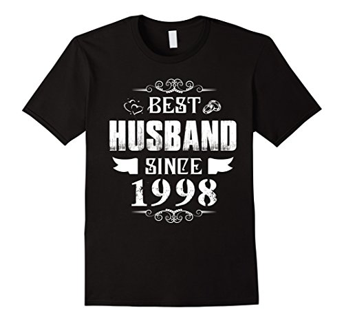 Mens Anniversary Gift 20 Years Wedding - Best Husband Since 1998 XL Black
