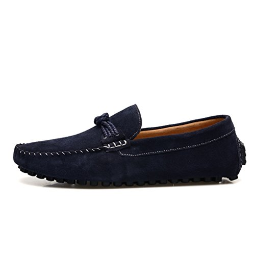 Classic TDA Suede Walk Loafers Knot String Driving Blue Mens pHHZTBqF