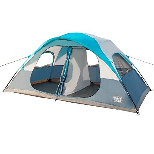 Timber Ridge 8 Person Family Tent, D Shape Door, 3 Seasons