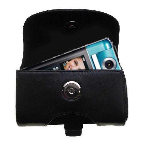 ベルトマウントレザーケースカスタムDesigned for the Sony Bloggieカメラpm5 – ブラックカラー取り外し可能なクリップby Gomadic B004VF7DWS