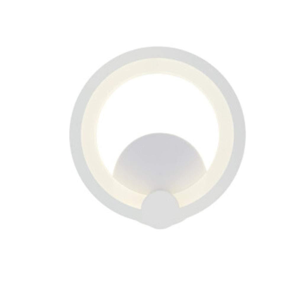 PANGU-ZC LED Schlafzimmer Nachtwandleuchte Raum Gang Flur Warm Moderne Minimalistische Wandbeleuchtung Mattlicht 5,5 Watt Durchmesser 19,5 cm Abstand Von der Wand 6 cm