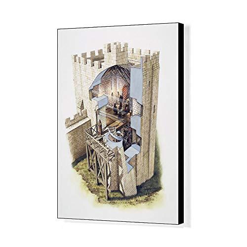 Media Storehouse 20x16 Canvas Print of Peveril Castle J980136 ()