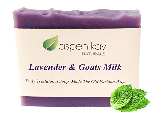 Lavender Goats Milk Soap Bar. 100% Natural and Organic Soap. Loaded With Organic Skin Loving Oil. This Soap Makes a Wonderful and Gentle Face Soap or …