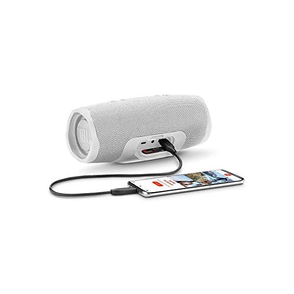 JBL Charge 4 - Enceinte Bluetooth portable avec USB - Robuste et étanche : pour piscine et plage - Son puissant - Autonomie 20 hrs - Blanc 3
