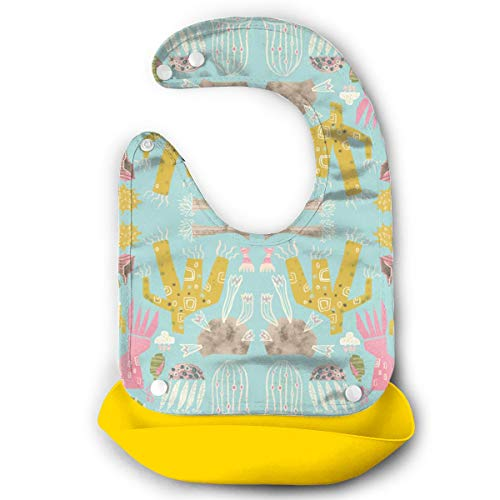 W3Zap1 Drifters & Dreamers Skbird Waterproof Silicone Baby Bibs Easily Wipes Clean Comfortable Soft