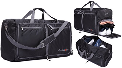 85L Foldable Travel Duffel Bag Lightweight Carry-on w\ Shoes Compartment Memory Foam Shoulder Pad Magictodoor