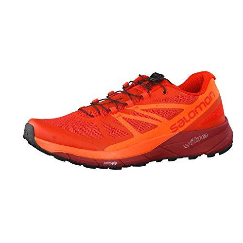 Salomon Men's Sense Ride Running Trail Shoes Fiery Red/Scarlet Ibis/Red Dalhia 12.5 For Sale