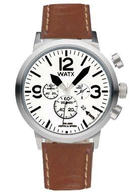 93be415bfafd Watx vertical speed reloj para Hombre Analógico de Cuarzo con brazalete de  Piel de vaca RWA0223  Amazon.es  Relojes
