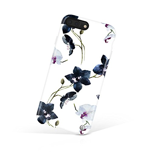 (iPhone 8 Plus/iPhone 7 Plus case for Girls, Akna Collection Flexible Silicon Cover for Both iPhone 7 Plus & 8 Plus [Vintage Orchid](804-U.S) )