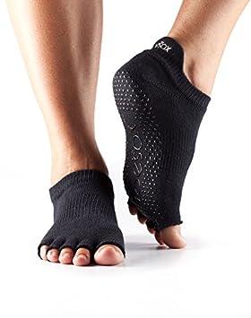 Calcetines sin dedos de corte bajo, negros, de Toesox, con agarre, para Yoga, Pilates, Danza Y Artes Marciales, calcetines unisex: Amazon.es: Deportes y ...