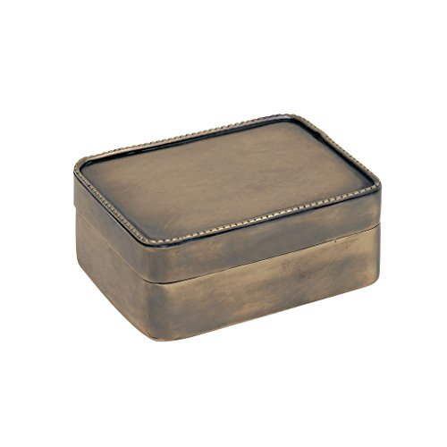 Time Concept Handcrafted Antique Hemming Hinged Small Brass Box - Accessories Storage, Home Decor - W4.3