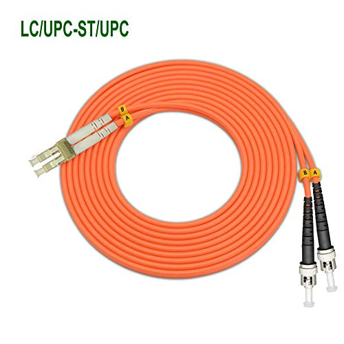 (EB-LINK 40M 131ft LC to ST OM1 Fiber Cable Optic Patch Cord Jumper Duplex Multi-Mode 62.5/125 LC-ST,40Meters,Orange)