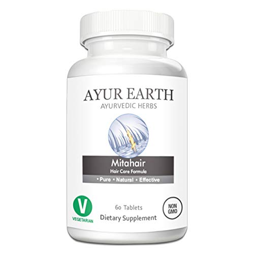 Mitahair - Ayurvedic Hair Growth Vitamins for Men & Women - All Natural Herbal Hair Growth Formula for Longer, Thicker, Healthier Hair - Ayurveda Hair Supplement - 30 Day Supply (60 Capsules) ()