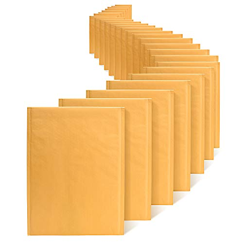 Fuxury Fu Global Kraft Bubble Mailers #5 Bubble Envelopes 10.5x16 Inch Padded Envelopes 25pcs