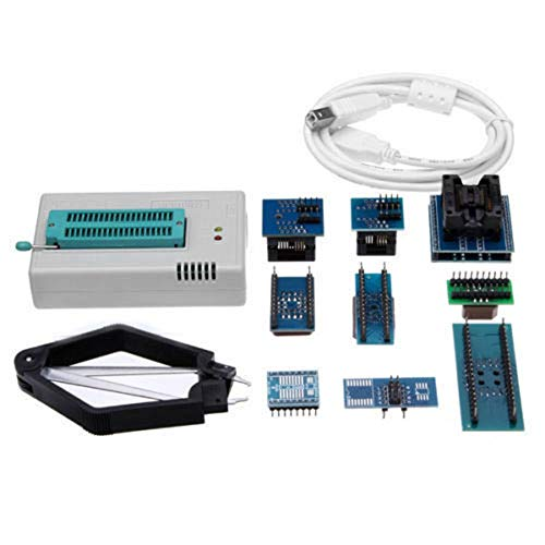 Manakayla Mini Pro TL866CS USB BIOS Universal Programmer Kit with 9 Pcs Adapter Blue