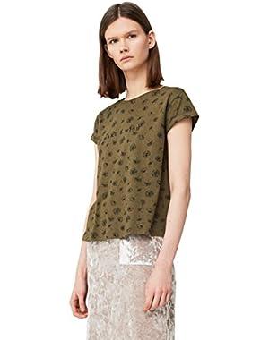 Mango Women's Printed Cotton T-Shirt