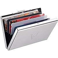 Adorner-Tarjetero para Tarjetas de Crédita, Diseño Elegante de Acero Inoxidable con 6 Ranuras, para tarjeta de Credito…