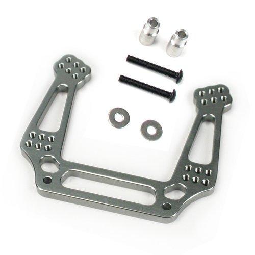 (Atomik RC Traxxas Slash 2WD 1:10 Aluminum Alloy Front Shock Tower Hop Up Upgrade, Grey/Gun Metal Replaces Traxxas Part 3639)