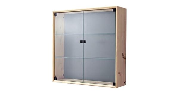Ikea Nornas – Glass-Door Armario de Pared, Pino – 70 x 70 cm: Amazon.es: Hogar