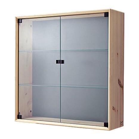 IKEA Nornas - El gabinete de pared de vidrio de puerta, pino - 70x70 cm: Amazon.es: Hogar