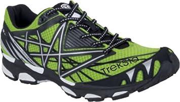 TrekSta - Zapatillas para Correr en montaña para Hombre Verde/Negro: Amazon.es: Zapatos y complementos