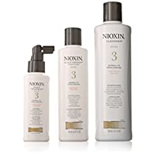 System 3 Thinning Hair Kit For Fine Chemically Enh. Normal - Thin Hair by Nioxin for Unisex - 3 Pc Kit 10.1oz Cleanser, 5.1oz Scalp Therapy, 3.4oz Scalp Activating Treatment
