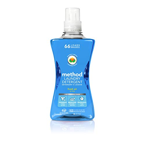 (Method Concentrated Laundry Detergent, Naturally Derived, Fresh AirScent, 264 Loads, 53.5 Ounceper Bottle(Pack of 4))
