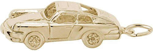 Rembrandt Classic German Sports Car Charm - Metal - Gold-Plated Sterling Silver