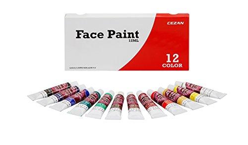Tube Face Paint - Cezan Face Paint - 12 Vivid