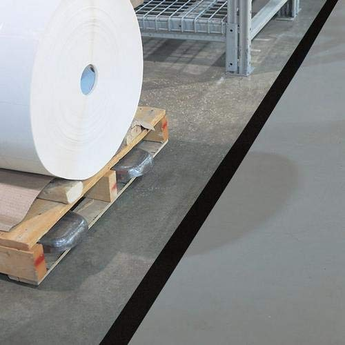 GHS Safety PST215XL, 2'' x 180' Black Aisle Floor Tape, Pack of 20 Roll