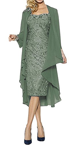 VaniaDress Women Two Piece Mother of The Bride Dress Prom Gown V107LF V107LF Matcha US24W from VaniaDress