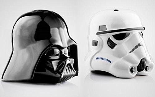 Juego de salero y pimentero Star Wars Cascos Star Trooper y Darth ...