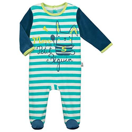 Pyjama bébé velours Biscuits - Taille - 3 mois (62 cm) Petit Béguin