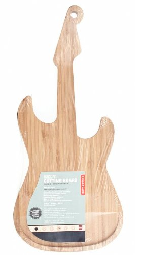 Kikkerland Bamboo Guitar Cutting Board ()